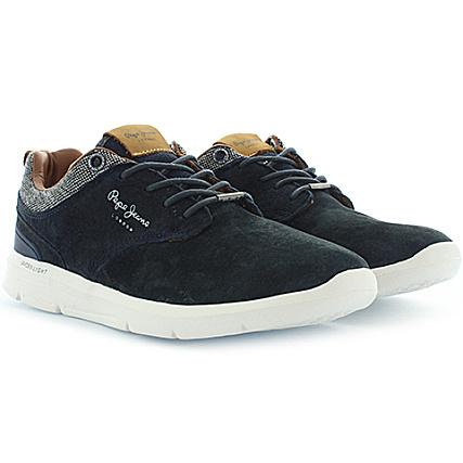 Jeans Suede Bleu Pepe Baskets Marine Jayden R4j5Aq3L