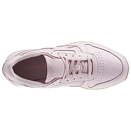 614ed6a3077dd Home   Reebok   Baskets - Chaussures   Baskets Basses   Reebok - Baskets  Femme Classic Leather Crepe Neutral Pop AR0985 Porcelain Pink White