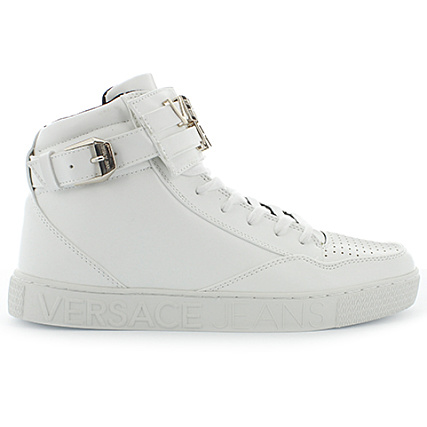 Home   Versace Jeans   Baskets - Chaussures   Baskets Montantes   Versace  Jeans - Baskets Linear Lettering Coating Blanc a687effcca2