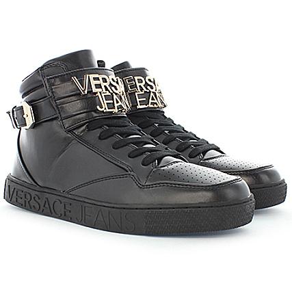 Versace Jeans - Baskets Linear Lettering Coating Noir -  LaBoutiqueOfficielle.com 86bbb6288ea