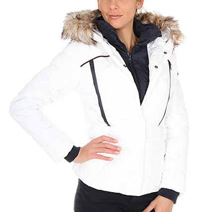 Superdry Blouson Femme Glacier Biker Blanc