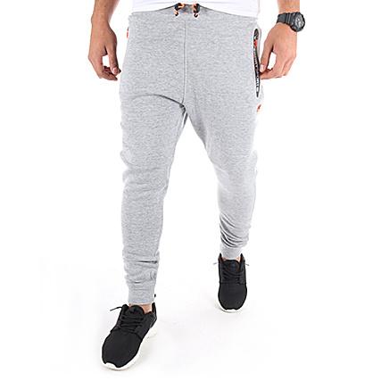 382ec9553096 Superdry - Pantalon Jogging Gym Tech Slim Gris Chiné -  LaBoutiqueOfficielle.com