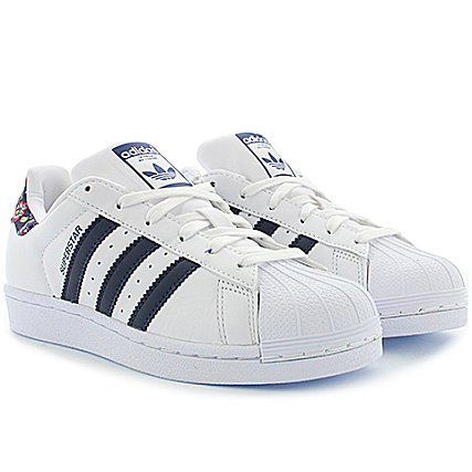 Adidas White Dark Baskets Superstar Femme S80481 St Slate 29IYWHED