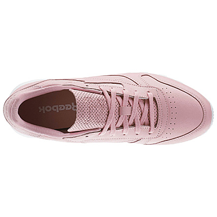 size 40 a5013 3b615 Nt Leather Femme Rose Classic White Baskets Reebok Cloud Bd1181 ItxFRH7gqw