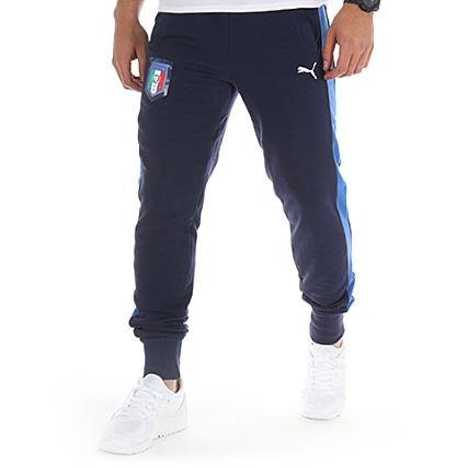 Puma Pantalon Jogging FIGC Fanwear Cuffed Pant Bleu Marine