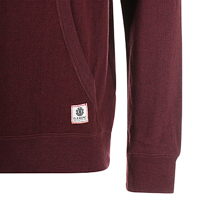 Element Sweat Capuche Cornell Overdye Bordeaux