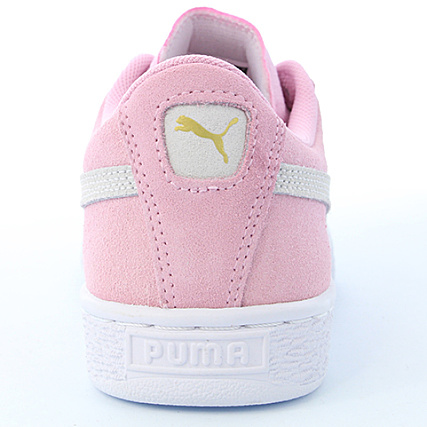 White Femme Baskets Team Lady 355110 30 Suede Puma Pink xordCBe