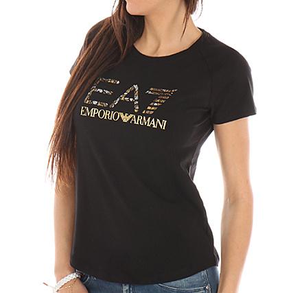 1a4202b3976 EA7 - Tee Shirt Femme 3YTT93 TJ12Z Noir - LaBoutiqueOfficielle.com