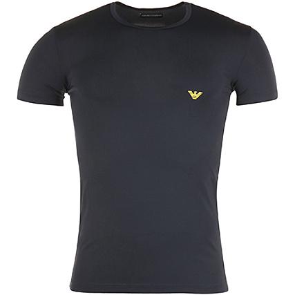 Microfiber Shirt 111035 Armani Emporio Bleu 7p535 Tee Comfort fybg76