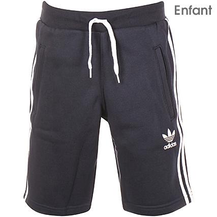 daaf8fb3ceb50 adidas - Short Jogging Enfant Trefoil BK6221 Bleu Marine -  LaBoutiqueOfficielle.com