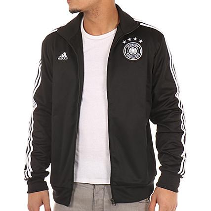Noir Fussball Deutscher Adidas Zippée Veste Bund Br2419 xqnxUHwc