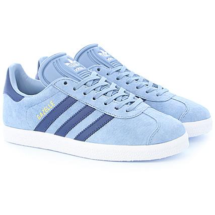 adidas Baskets Femme Gazelle BA7657 Tactile Blue Mystery