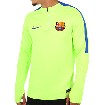 Nike Fc Maillot 808922 Longues Chtsqrd Manches Vert 369 Barcelona Fluo qcRj354AL