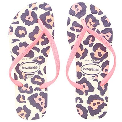 f4911224016 Havaianas - Tongs Femme Slim Animals 4103352 Rose Leopard -  LaBoutiqueOfficielle.com