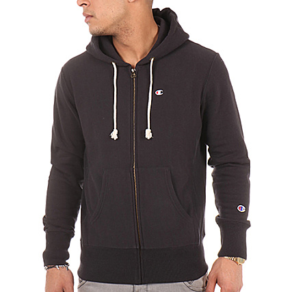 Zippé Capuche Champion Sweat 210590 Noir kOiXZuTP