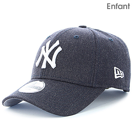 8b5749193f80 New Era - Casquette Enfant 9 Forty Heather Team Essential Youth MLB New  York Yankees Bleu Marine Chiné - LaBoutiqueOfficielle.com
