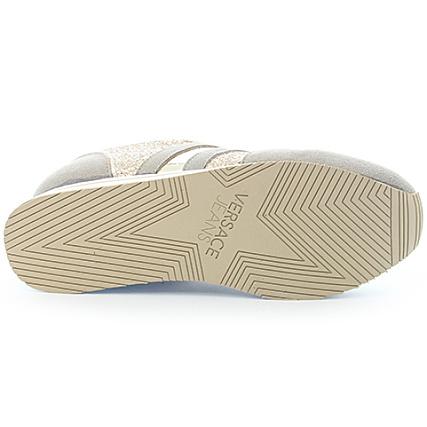 15b0b94c731a Home   Versace Jeans   Baskets - Chaussures   Baskets Basses   Versace Jeans  - Baskets Femme Donna Dis. A1 Gris Rose Cuivré