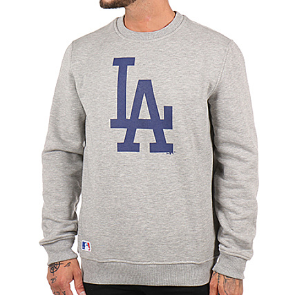 Sweat Dodgers Los New Crewneck Gris Era Angeles Chiné Mlb 11204080 Zwqa5x