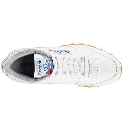 38a7b65d095 Home   Reebok   Baskets - Chaussures   Baskets Basses   Reebok - Baskets Classic  Leather R12 M45029 White Navy Grey Sandtrap