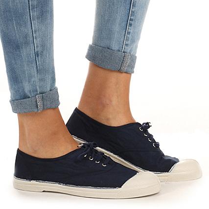 368d03906604f Bensimon - Chaussures Femme Tennis Lacets F15004 Bleu Marine -  LaBoutiqueOfficielle.com
