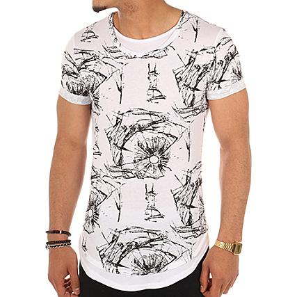 Aarhon Tee Shirt Oversize 3 2059Y Blanc Noir