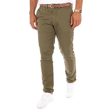 7157a9660 Jack And Jones - Pantalon Chino Cody Spencer Vert Kaki ...