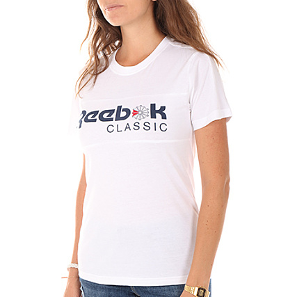 Classic Blanc Shirt Tee Bq2518 Reebok Femme nvYqOwHax