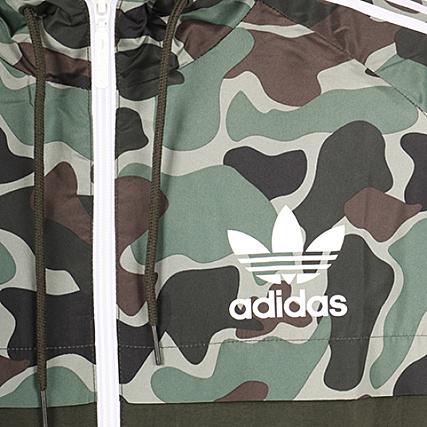 adidas Coupe Vent Réversible BS4907 Vert Kaki Camouflage