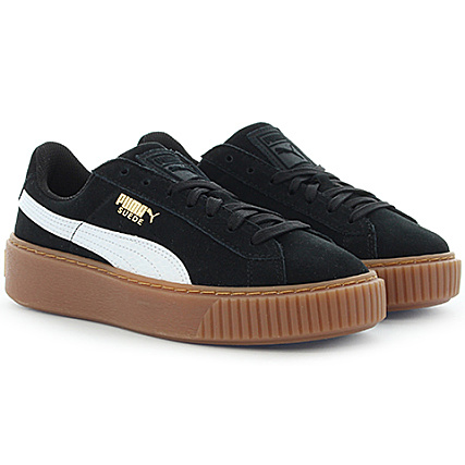 premium selection c7550 d23b0 Puma - Baskets Femme Suede Platform SNK Black White Noir -  LaBoutiqueOfficielle.com