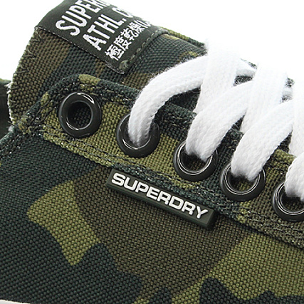 Kaki Superdry Sleek Vert Baskets Low Camo Pro T1JlFK3c