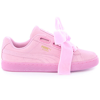 the latest 0e970 96d91 Home   Puma   Baskets - Chaussures   Baskets Basses   Puma - Baskets Femme Suede  Heart Reset 363229 02 Prism Pink