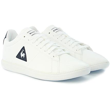 ebf23b074b48 Le Coq Sportif - Baskets Courtset S Lea 1720239 Optical White Dress Blue -  LaBoutiqueOfficielle.com