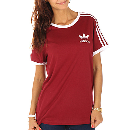 tee shirt adidas femme bordeaux