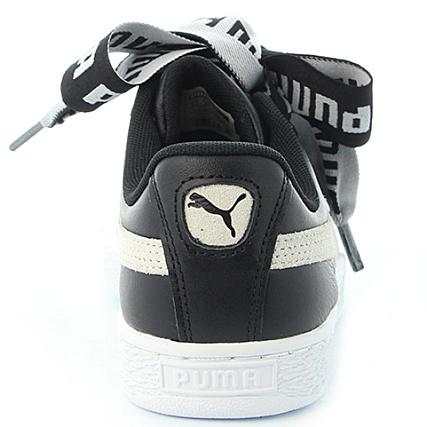 Puma Baskets Femme Heart DE 364082 Black White