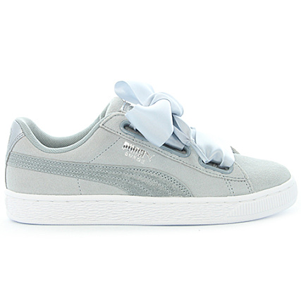 reputable site f1e0b 81199 Home   Puma   Baskets - Chaussures   Baskets Basses   Puma - Baskets Femme Suede  Heart Metallic Safari 364083 Quarry