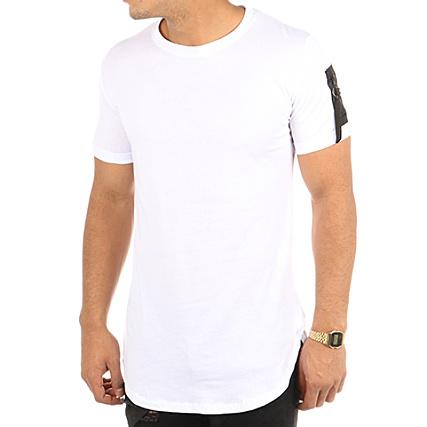 Aarhon Tee Shirt Oversize Poche Bomber RC17734 Blanc