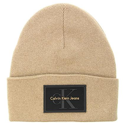 Calvin Klein , Bonnet Re,Issue Beige , LaBoutiqueOfficielle.com