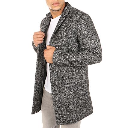 Selected - Manteau Free Wool Noir Chiné - LaBoutiqueOfficielle.com a262ebbc9b8