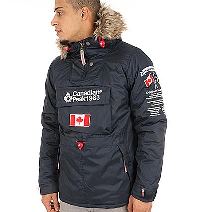 online store to buy nice cheap Canadian Peak - Parka Fourrure Banteak Bleu Marine ...