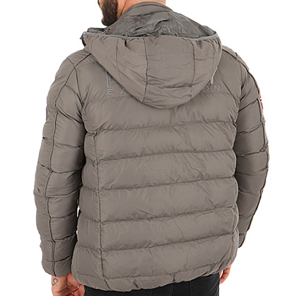 Geographical Norway Doudoune Patchs Brodés Balance Gris