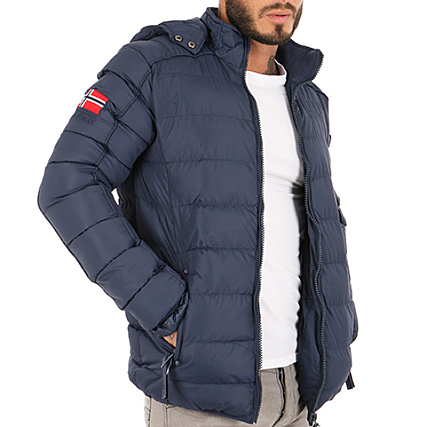 Geographical Norway Doudoune Patchs Brodés Balance Bleu