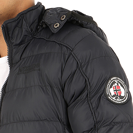 Geographical Norway Doudoune Patchs Brodés Balance Noir