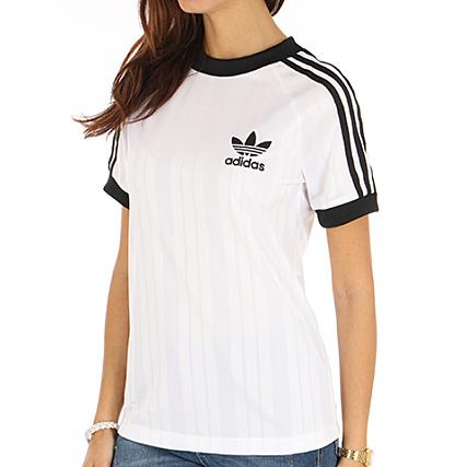 acdff86f6b5f adidas - Tee Shirt De Sport Femme Foot CE1669 Blanc Noir -  LaBoutiqueOfficielle.com