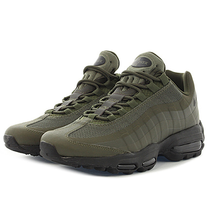 a71252c81c3 Nike - Baskets Air Max 95 Ultra Essential 857910 301 Cargo Khaki Black -  LaBoutiqueOfficielle.com