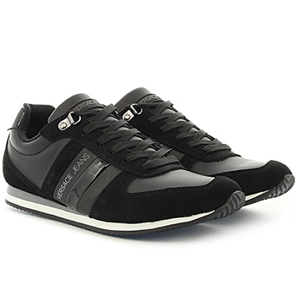 Versace Jeans - Baskets Linea Fondo Running Dis 1 E0YRBSA1-70014 899 Noir -  LaBoutiqueOfficielle.com fce6beb9f18