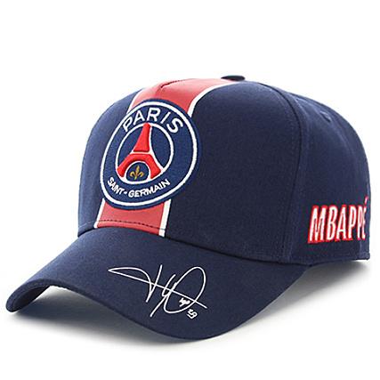 photos officielles a2f96 72338 PSG - Casquette Signature Mbappé Bleu Marine ...