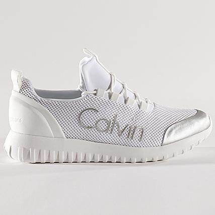calvin klein baskets ron mesh s0506 indigo silver taille 45