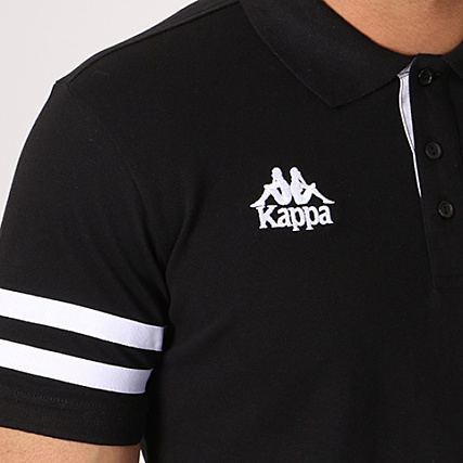 Manches Noir Authentic Palazzi Kappa Polo Courtes EHYWD29I