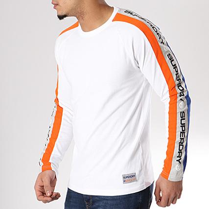 Trophy T shirt manches longues blanc