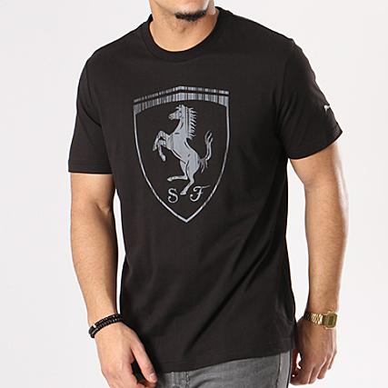 Puma - Tee Shirt Ferrari Big Shield 575241 01 Noir -  LaBoutiqueOfficielle.com 7e5690d7400